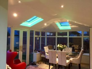 Warm Conservatory Roof Dining Room