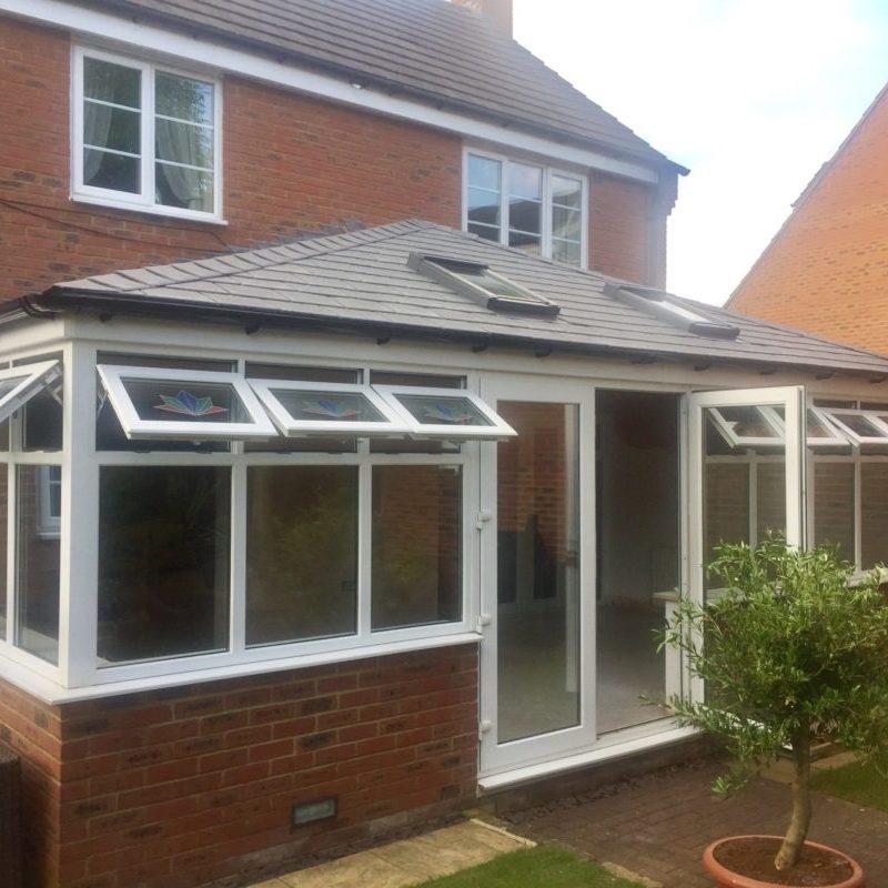 Tapco tiled conservatory roof, grange park, northampton, northamptonshire